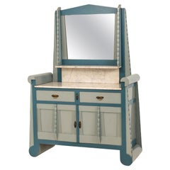 Painted Art Deco Amsterdam School Washstand with Mirror
