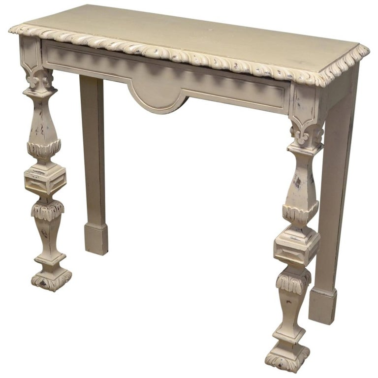 Painted Arts And Crafts Pitch Pine Antique Console Table For Sale At