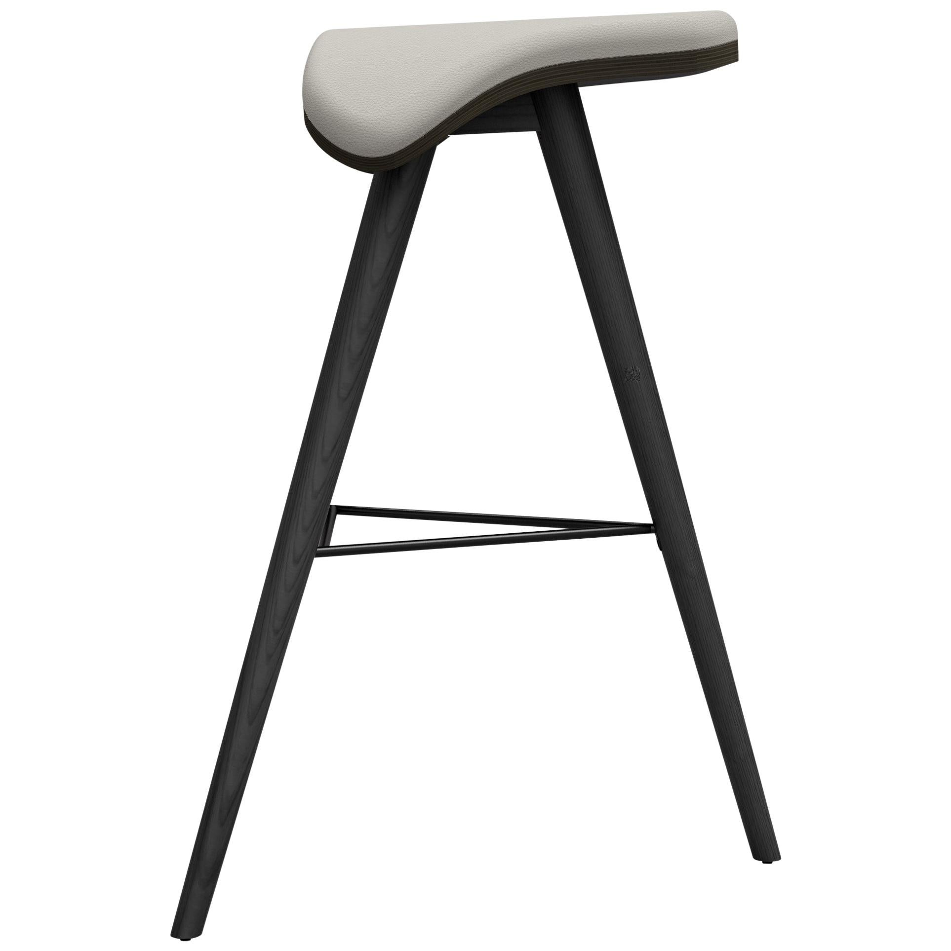Painted Ash and Fabric Horse High Stool by Alexandre Caldas