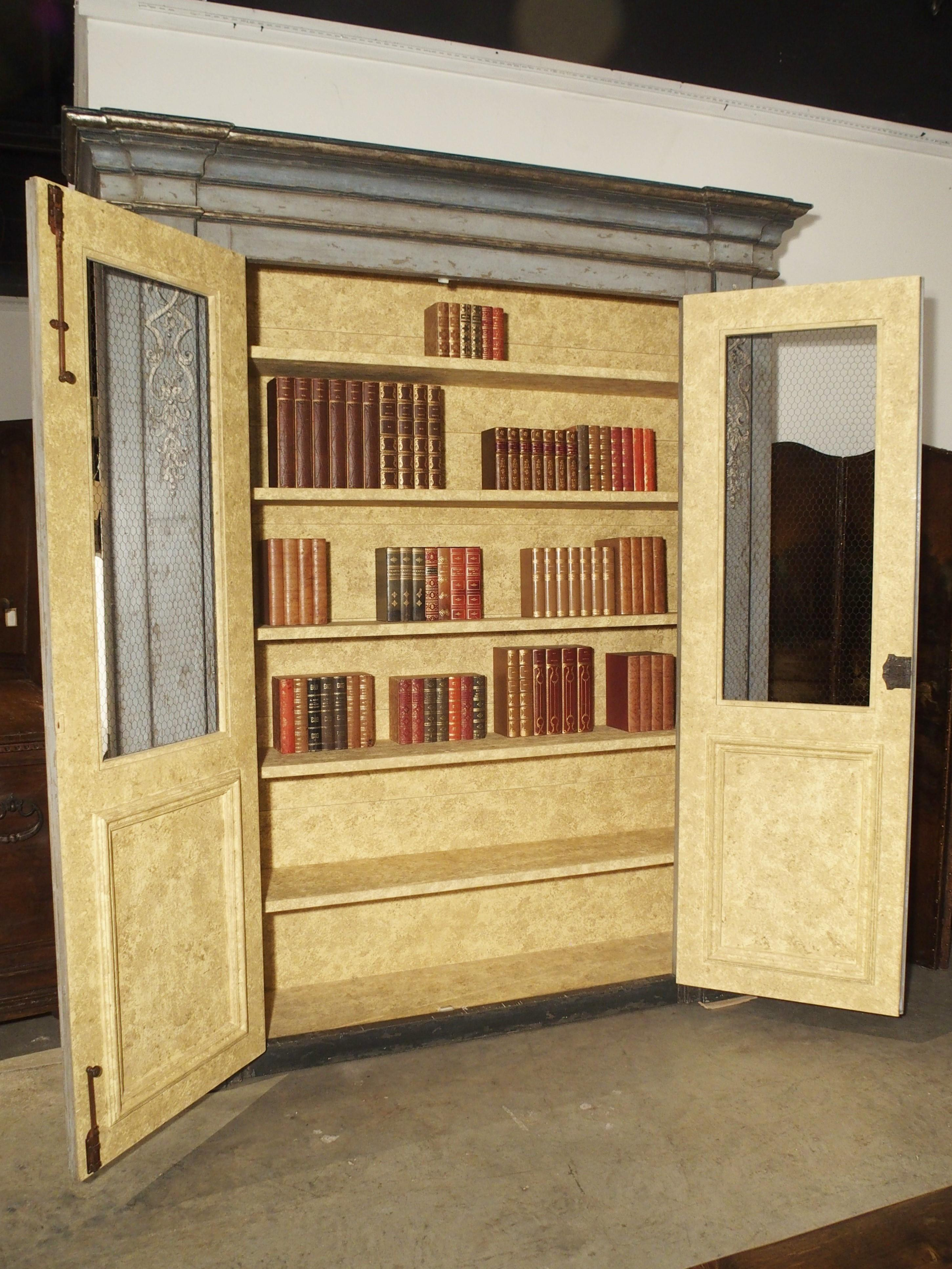 Painted Bookcase From Northern Italy 20th Century