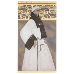Painted Canvas, Art Deco Woman, Contemporary Work