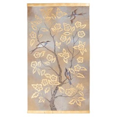 Painted Canvas, Birds and Branches, Contemporary Work