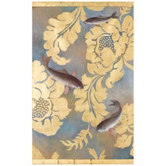 Painted Canvas Figuring Carps, Contemporary Work