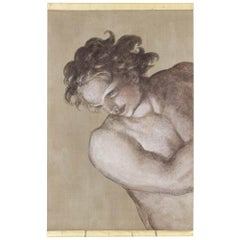 Painted Canvas, Man in Michelangelo Style, Contemporary Work
