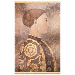 Painted Canvas, Renaissance Man Portrait, Contemporary Work