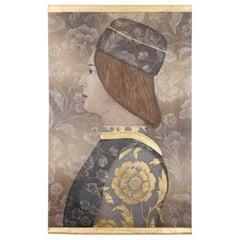 Painted Canvas, Renaissance Style Male Portrait, Contemporary Work