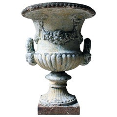 Painted Cast Iron Campana Urn Attributed to Andrew Handyside, circa 1870