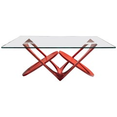 Painted Cast Iron Low Table by Valenti, Barcelona, circa 1970