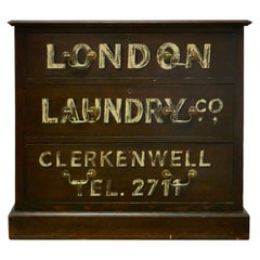Painted Chest of Drawers, Advertising the London Laundry Co