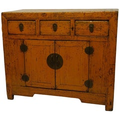 Painted Chinese Cabinet, 19th Century