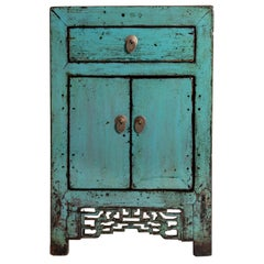Painted Chinese Cabinet with a Drawer and Pair of Doors