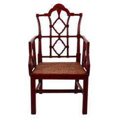 Painted Chinese Chippendale Style Armchair