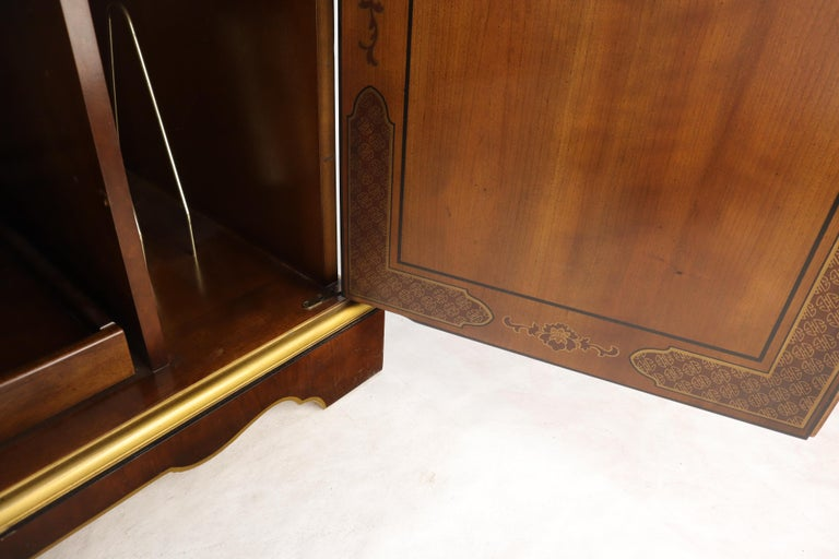 Painted Chinoiserie Two Doors Server Cabinet by Drexel For Sale 2