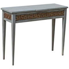 Painted Console Table in the Neoclassical Taste Having Greek Key Detail