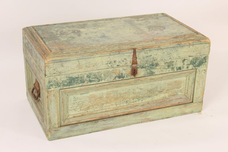 European Painted Country Trunk For Sale