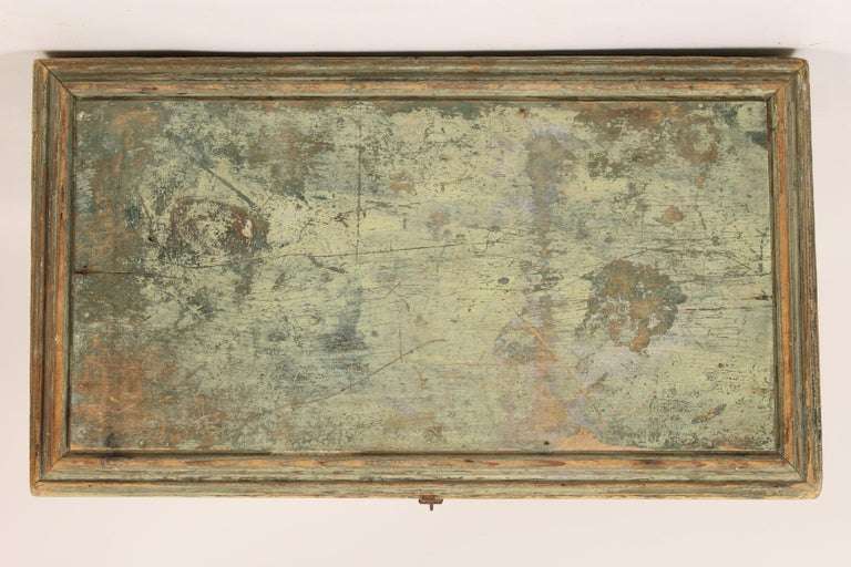19th Century Painted Country Trunk For Sale