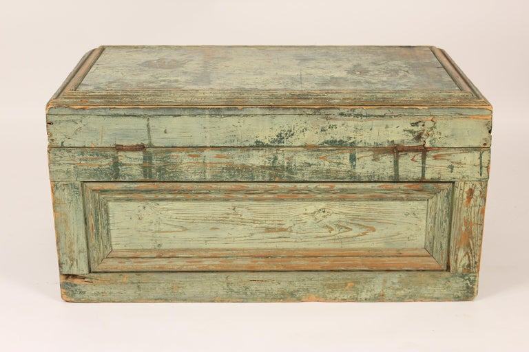 Painted Country Trunk For Sale 2