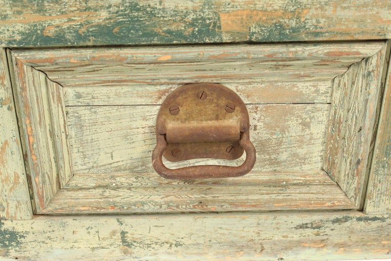 Painted Country Trunk For Sale 3