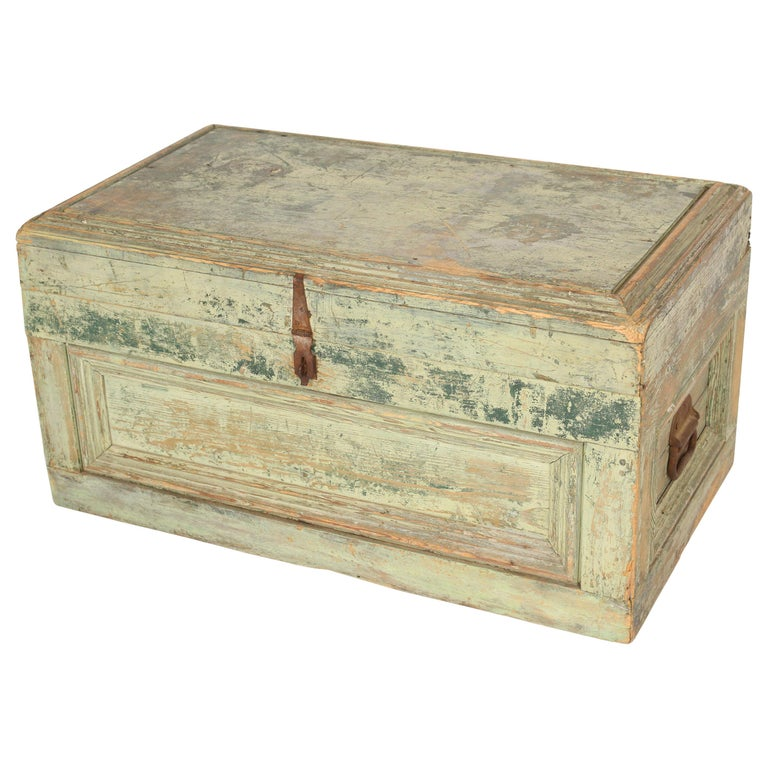 Painted Country Trunk For Sale