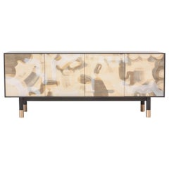 Painted Credenza, with Bronze Legs