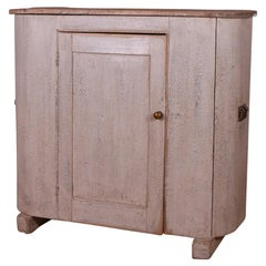 Painted D Ended Proving Cupboard