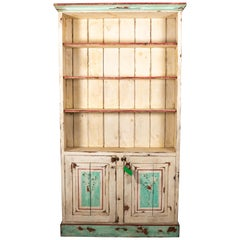 Painted Distressed Two-Door Cupboard