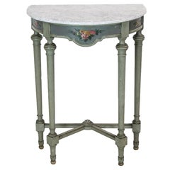 Painted English Demilune Side Table