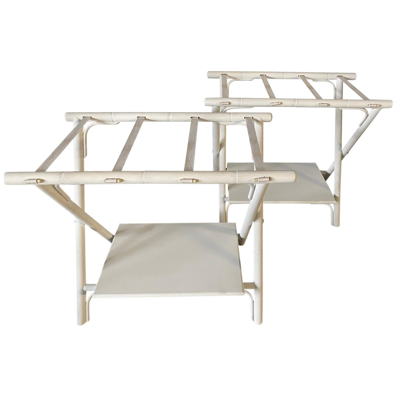 Painted Faux Bamboo Luggage Racks, Sold Singly