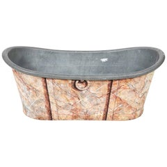 Painted Faux Marble Tub