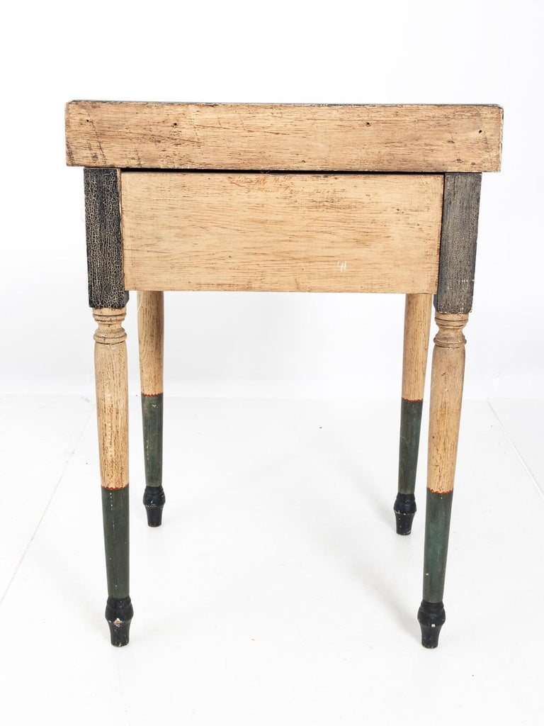 Painted Folk Art Writing Table For Sale 7