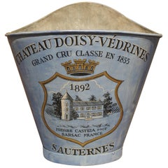 "Painted French Blue Grape Hotte, ""Chateau Doisy-Vedrines Sauternes"""
