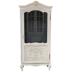 Painted French Provincial Style Display Cabinet