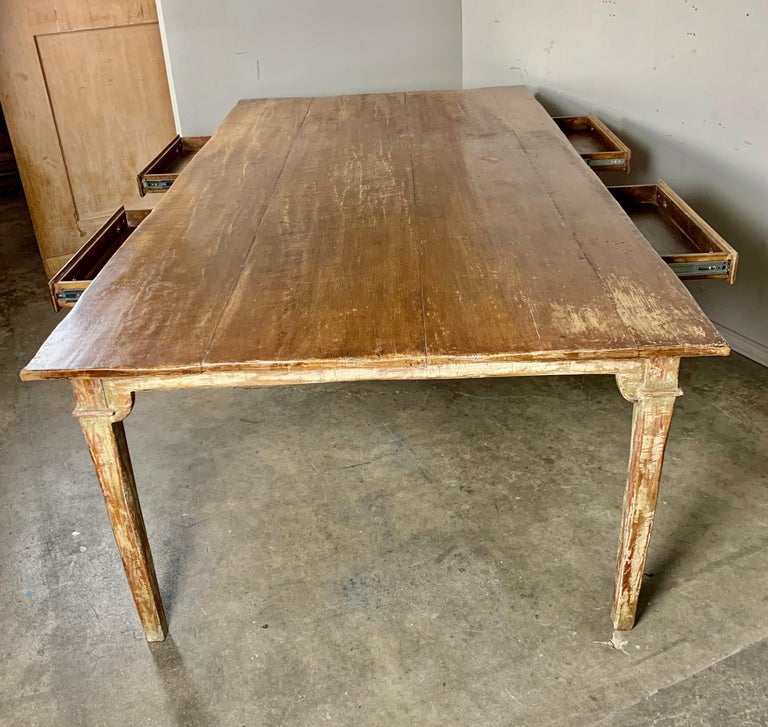 Painted French Style Partners Desk, 20th Century For Sale 4