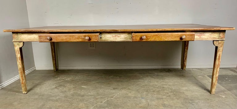 Hand-Painted Painted French Style Partners Desk, 20th Century For Sale