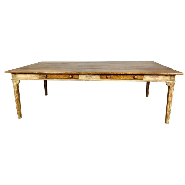 Painted French Style Partners Desk, 20th Century For Sale