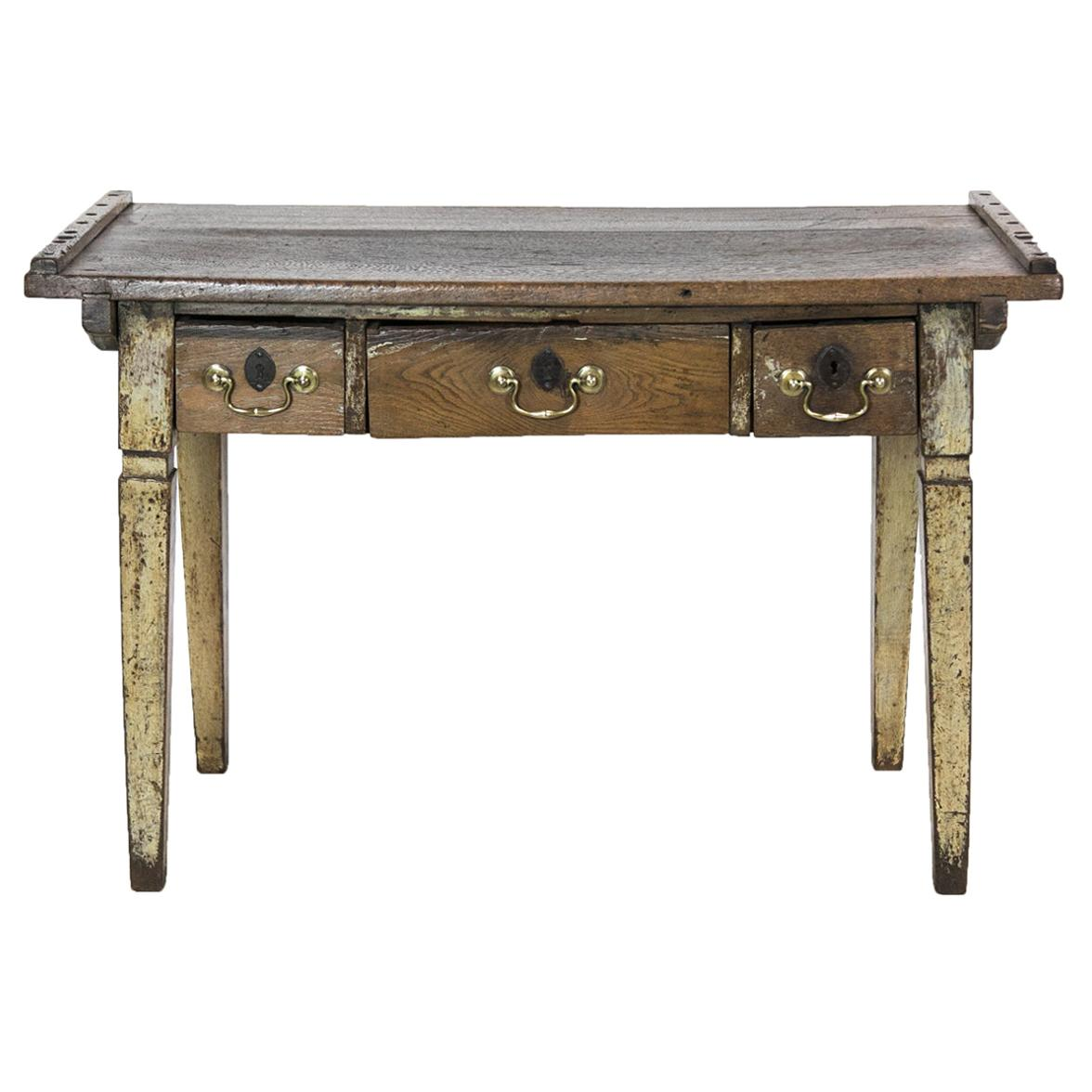 Painted French Three-Drawer Work Table