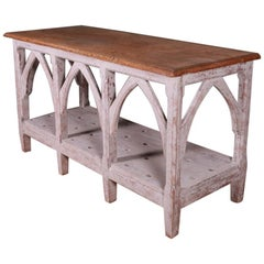 Painted Gothic Console Table