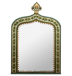 Painted Gothic Style Mirror