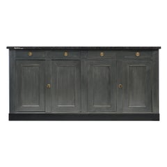 Painted Gray French Provincial Buffet