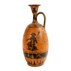 Painted Greek Vessel with a Single Handle