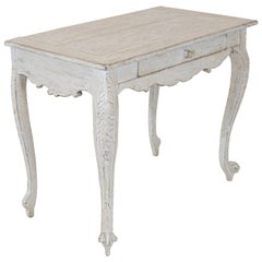 Painted Gustavian Table with a Single Drawer