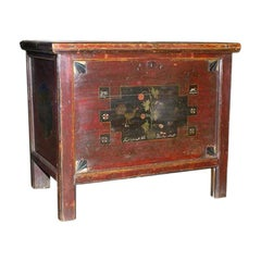 Painted Hope Chest, Blanket Box or Dowry Chest, circa 1840