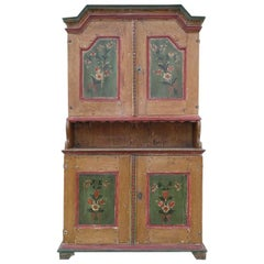 Painted Hutch from Northern Sweden