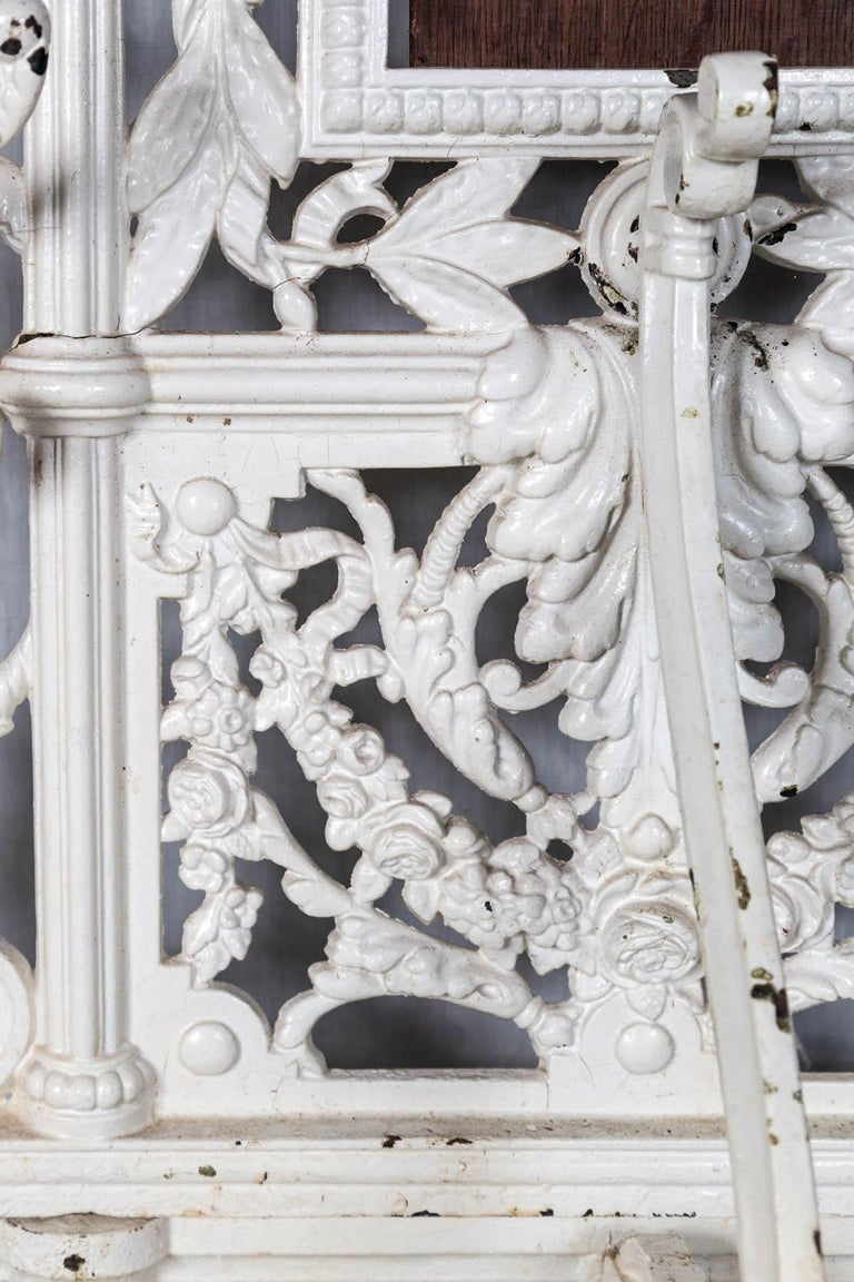 Cast Painted Iron Hall Rack For Sale