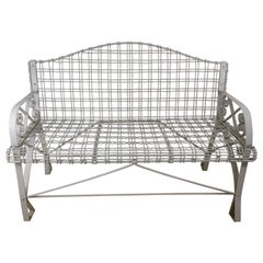 Painted Iron & Steel Antique Style Garden Bench