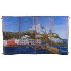Painted Italian Coastal Scene
