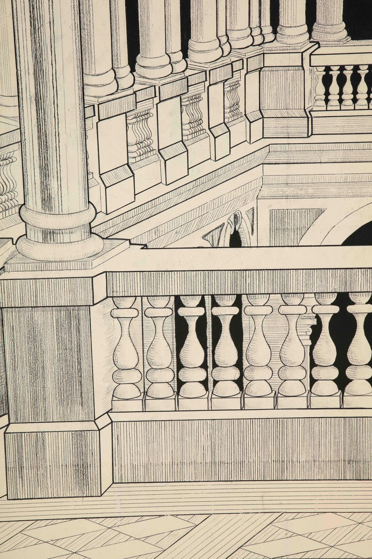 Painted Italian Interior Wood Screen 5