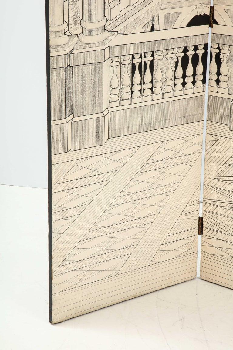 Late 20th Century Painted Italian Interior Wood Screen