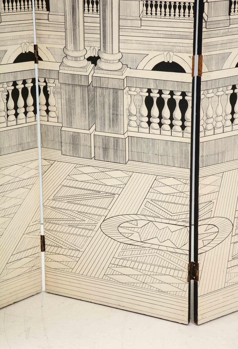 Painted Italian Interior Wood Screen 1