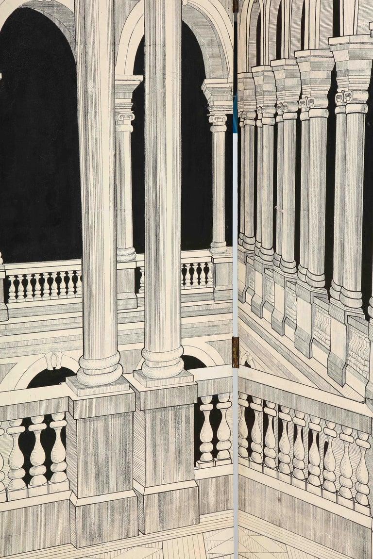 Painted Italian Interior Wood Screen 3